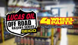 4 Wheel Parts Renews Lucas Oil Off Road Racing Series Partnership